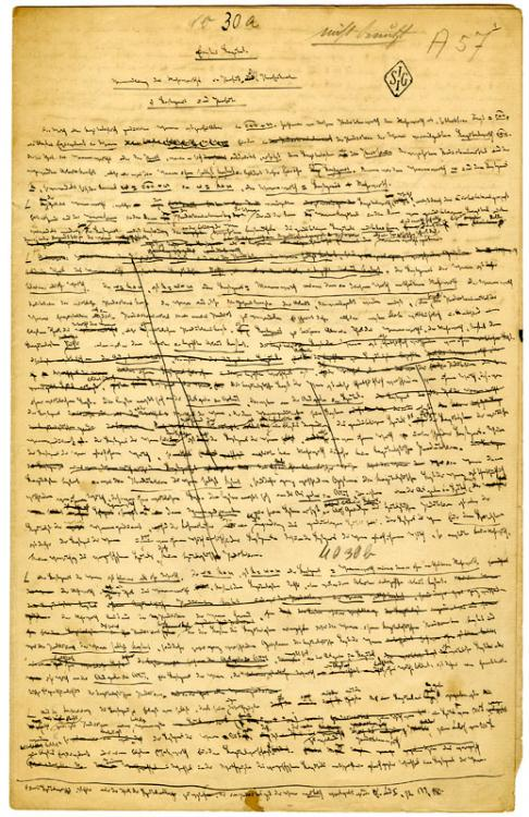 Draft pages from the third volume of Das Kapital