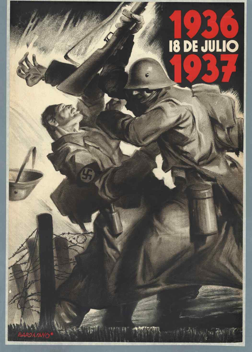 IISH Collections | Spanish Civil War (1937) | Poster by Bardasano
