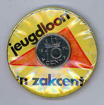 IISH Collection | button | Jeugdloon 'n zakcent