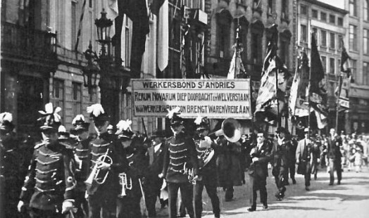 Labour Union demonstration in 1900 - Photo: IISH Collections