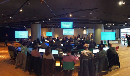 Archivematica Camp IISG April 2018 - Nettlau zaal | Photo by Henk Wals (IISG)