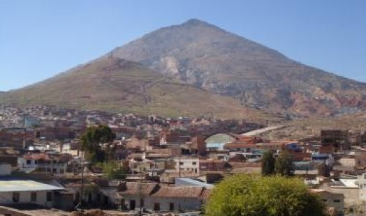The Potosí Mountain of Silver and the city of Potosí today